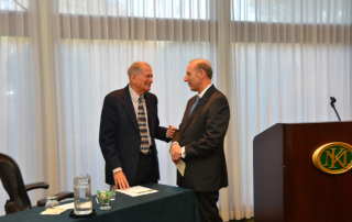 Harold Blum and Jerry Blackman after morning talk
