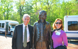 Susam and Jerry Blackman with Thomas Jefferson
