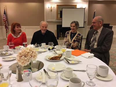 Keyhill Sheorn, MD, William Rheuban, MD, Bonnie Shopper, and our guest speaker, Moisy Shopper, MD April 2018